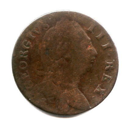 1760 Contemporary Non Regal Irish Halfpenny - Mule - Wrong King!