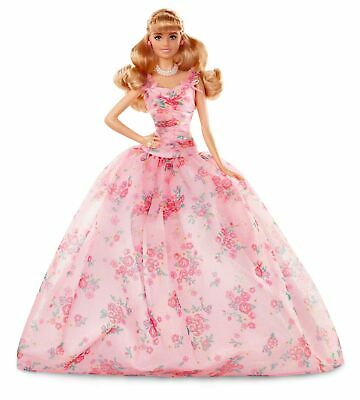 Barbie Collector: Birthday Wishes Doll with Blonde Hair, 11.5-Inch, Wearing F...