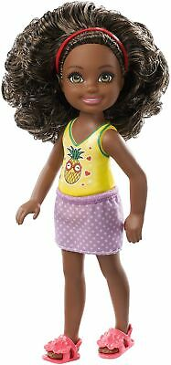 Barbie Club Chelsea Doll, 6-Inch, with Curly Brunette Hair Wearing Pineapple...