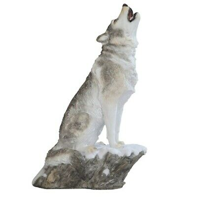 Howling Wolf Figurine 9 inches tall