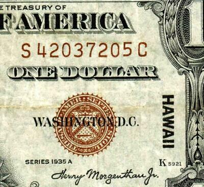 $1 1935 A (( HAWAII ))  Silver Certificate  * MORE PAPER CURRENCY FOR SALE
