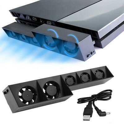 BLACK PS4 Console External USB Super Cooling Fan - Turbo Cooler System- 2020 HOT