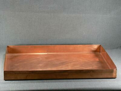 Vintage Copper Rectangle Shape Serving Table Top Tray 22 '' X 14 X 2''