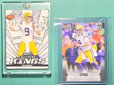 JOE BURROW Leaf Rookie Card Lot, Draft, Touchdown Kings, LSU, Cincinnati Bengals