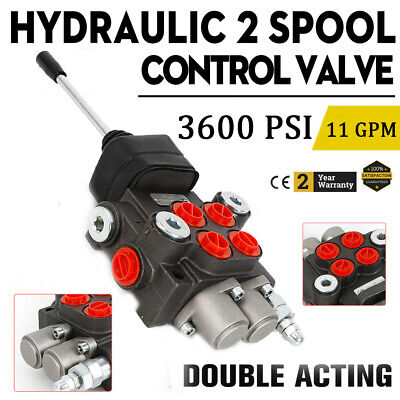 Hydraulic Directional Control Valve for Tractor Loader w/ Joystick, 2 Spool