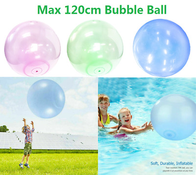 UK 120CM Large Inflatable Wubble Bubble Ball Soft Stretch Outdoor Water Balloons