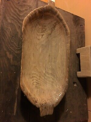Rustic Country Antique Cheese Drain Bowl Hand Hewn