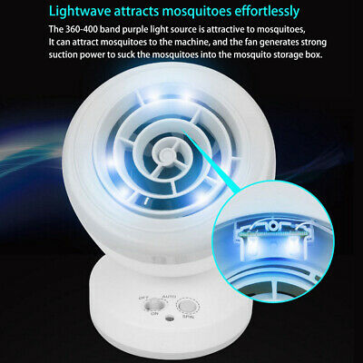 Safe Electric Mosquito Killer Lamp 360° Insect Fly Pest LED  Trap Bug Zapper