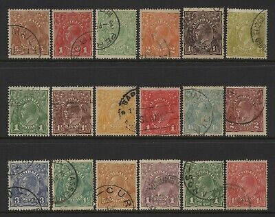 Australia Collection 18 KGV Head Values Used