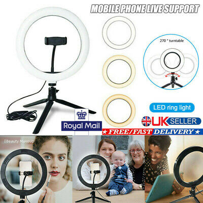 """10"""" LED Ring Light with Stand For Youtube Tik Tok Makeup Video Live Phone Selfie"""
