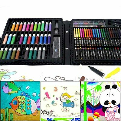 150x Drawing Tool Kit Painting Brush Art Marker Water Color Pen Crayon for Kids