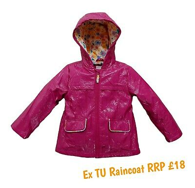 Girls Coat Summer Jacket Spring Lightweight Raincoat Hooded Anorak Showerproof
