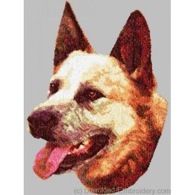 Embroidered Short-Sleeved T-shirt - Australian Cattle Dog DLE1470 Size S - XXL