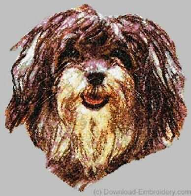 Embroidered Short-Sleeved T-Shirt - Havanese DLE1552 Sizes S - XXL