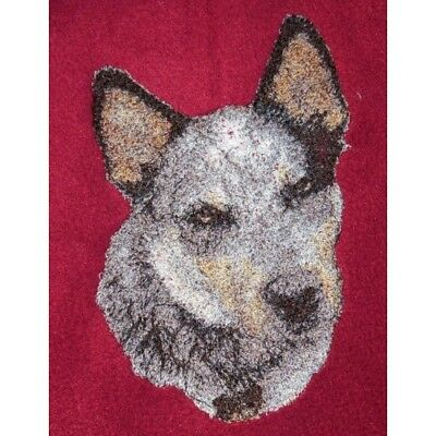 Embroidered Short-Sleeved T-shirt - Australian Cattle Dog AED16215 Size S - XXL