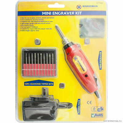 Mini Engraver Engraving Kit For Craft Glass Ceramic Metal Machine Drill Tool New