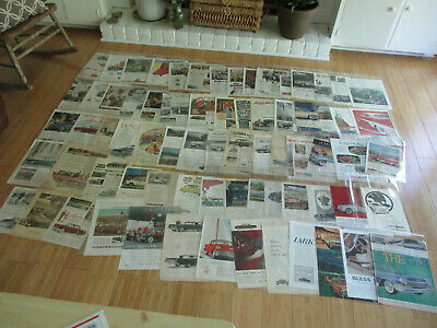 HUGE LOT OF 70+ RARE 1940s-1950s AUTOMOBILE & TRUCK ADS