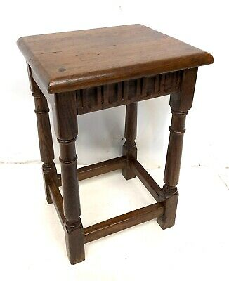 Antique Style Oak Joint Stool / Lamp Stand