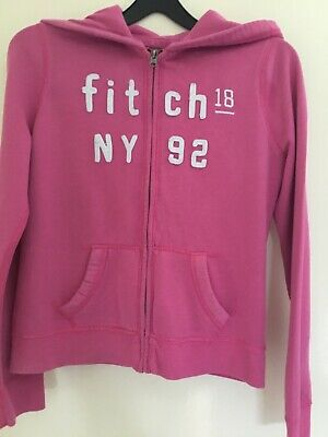 Abercrombie And Fitch Pink Zip Up Hoodie Age 10-12