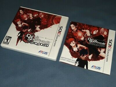 Devil Survivor Overclocked, Nintendo 3DS, Case and Manual Only, NO GAME!
