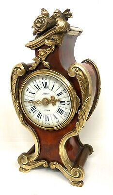 Antique Louis XV Style MINIATURE Mantel Clock with Ormolu Mounts LIBERTY LONDON