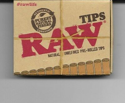 1 Pack Raw Pre-Rolled Natural Unrefined Tips - 21 Tips Per Pack