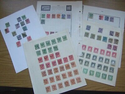 😎NICE COLLECTION of KGV IRELAND OVERPRINTED STAMPS on ALBUM PAGES - 7 Photos😎