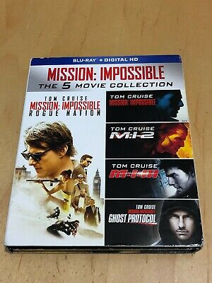 Mission Impossible The 5 Movie Collection Blu Ray Set Tom Cruise Digital HD