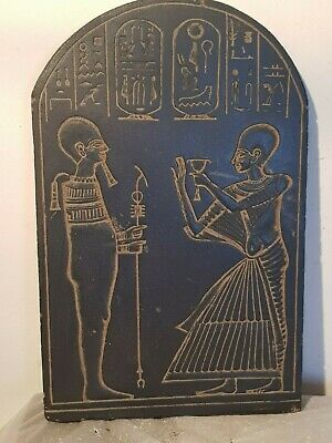 Rare antique ancient Egyptian stela God Ptah Crafts men Architects 1740-1670BC