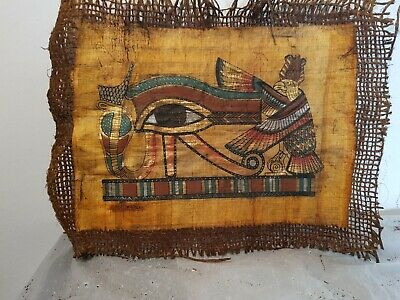 Rare Antique Ancient Egyptian Papyrus Amulet protection Eye Horus Snack 1740 BC
