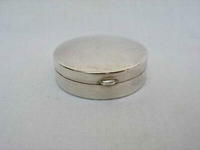 Quality Hallmarked Sterling Silver Circular Pill Box New Old Stock London 1990