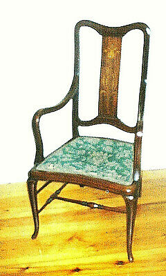 Early 20th Century Mahogany Arts and Crafts, Art Nouveau Armchair
