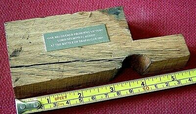 Large Chunky PIECE OF OAK - HMS VICTORY the most famous ship in the world
