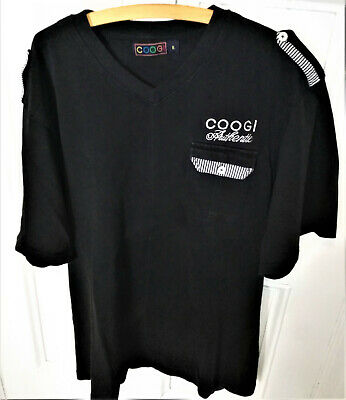 Coogi Authentic T-Shirt Mens Size XL Black with embroidered logo.