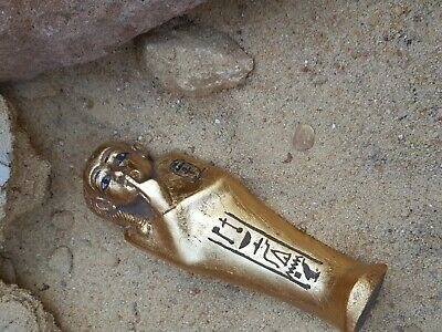 Rare Antique Ancient Egyptian Ushabti Servant minions Water Gold 1730-1650 BC