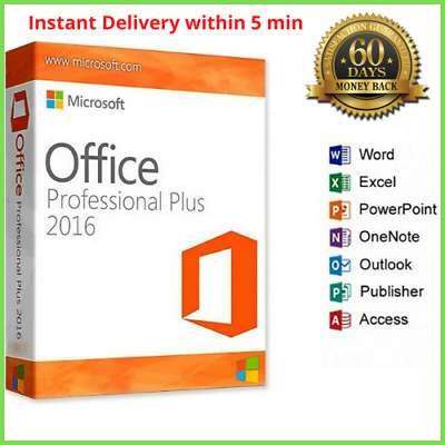 MICROSOFT OFFICE 2016 PROFESSIONAL PLUS 32/64-bit License Key