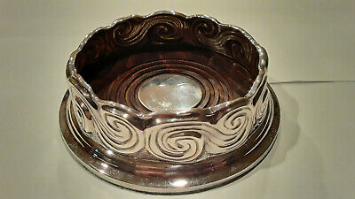Tiffany & Co Sterling Silver Scroll Wine Bottle Coaster Louis Comfort Collection