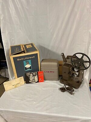 Bell & Howell Model 254R Monterey 8mm Movie Projector Working! 1954