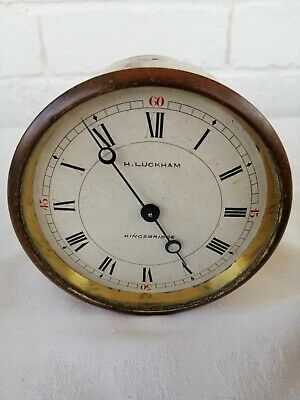 FHM Clock Movement & Dial With Glass, Signed H Luckham, Kingsbridge. Circa 1920