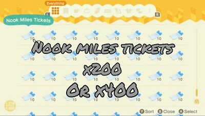 [OFFLINE]200 / 400 Nook Miles Tickets ANIMAL CROSSING NEW HORIZON Fast Delivery!