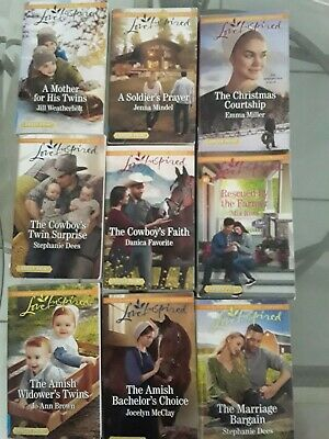 Love Inspired Large Print 9 Book Lot