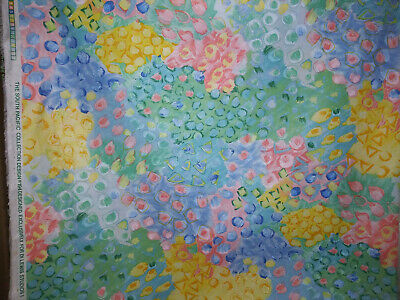"""Pastel Floral Print 100% Cotton Fabric 60""""  Wide Sold By the Yard"""
