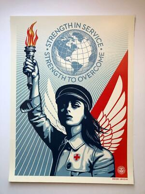 """Shepard Fairey """"Angel of Hope and Strength""""  Obey Giant 18""""x24"""""""