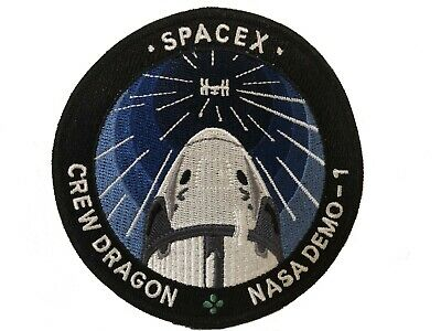 Nasa Space X SpaceX SpX D-1 Crew Dragon Capsule ISS Demo-1 Mission Patch New