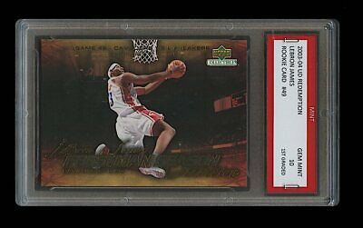 "2003 Lebron James ""Slam Dunk"" Upper Deck Ud 1St Graded 10 Rookie Card Rc Lakers"