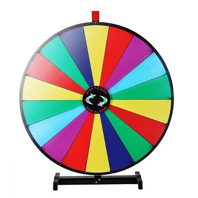 "WinSpin® Upgraded Editable 30"" Color Prize Wheel of Fortune Show Tabletop Game"