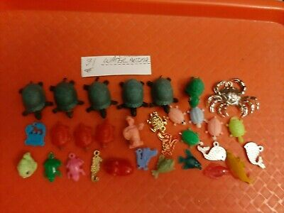 Vintage Gumball/Vending Water Animals Charms/Figures Lot Of 31