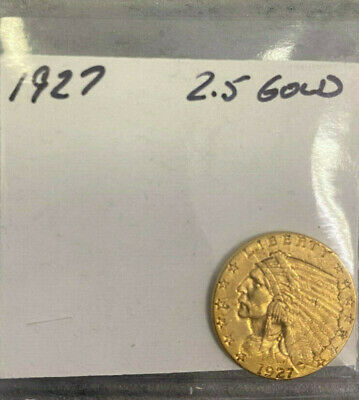 1927 $2.5 indian head gold coin