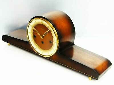 Later Art Deco Westminster Chiming Mantel Clock Hermle  Black Forest Germany