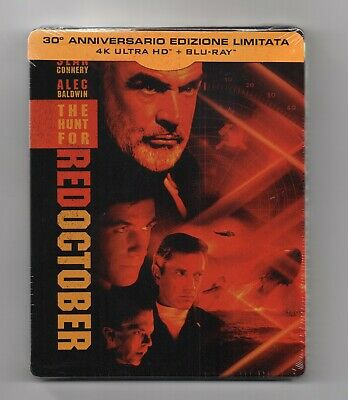 The Hunt For Red October- 4K UHD + 2D Blu-ray Steelbook - NEW/SEALED-All Regions